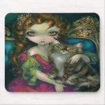 """""""Princesa com um gato de racum"""" Mousepad de Maine"""