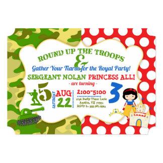 Princesa comum Convite do soldado do exército do