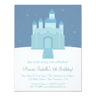 Princesa congelada gelo festa de aniversário do convite 10.79 x 13.97cm