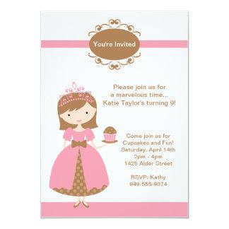 Princesa convite de aniversário convite 12.7 x 17.78cm