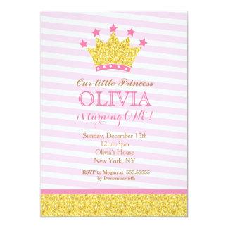 Princesa cor-de-rosa Aniversário Convite do ouro