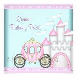 Princesa cor-de-rosa Aniversário das meninas do Convite Personalizado