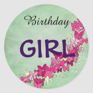 Princesa cor-de-rosa Aniversário Menina Etiqueta