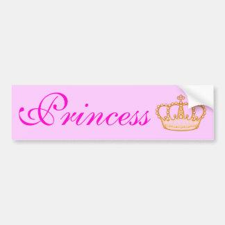 Princesa cor-de-rosa bonito Bumperr Etiqueta Adesivo Para Carro
