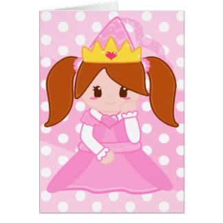 Princesa cor-de-rosa Cartão