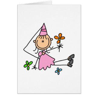 Princesa cor-de-rosa Com Flor Cartão