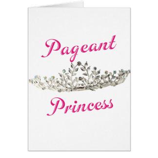 Princesa cor-de-rosa da representação histórica cartao