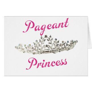 Princesa cor-de-rosa da representação histórica cartão comemorativo