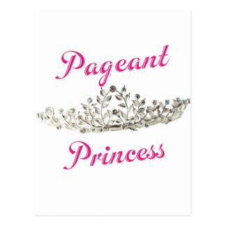 Princesa cor-de-rosa da representação histórica cartão postal