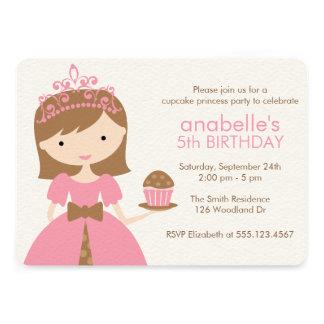 Princesa cor-de-rosa festa de aniversário do convite personalizados