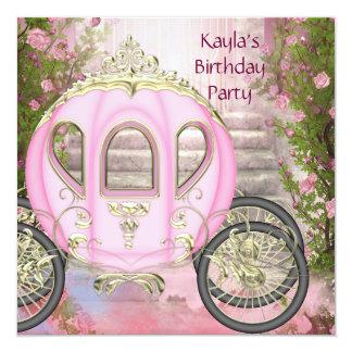 Princesa cor-de-rosa festa de aniversário dos convites
