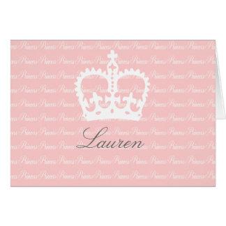 Princesa Cor-de-rosa-n-Branca Cartão