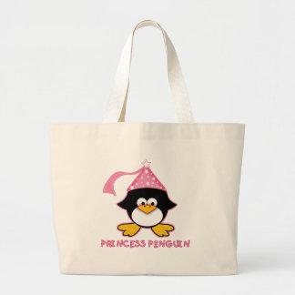 Princesa cor-de-rosa Pinguim Sacola Tote Jumbo