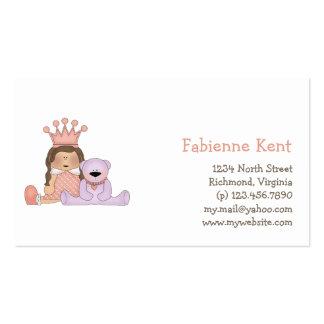 Princesa cor-de-rosa · Princesa & ursinho Cartao De Visita