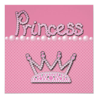 Princesa Coroa Calçados & chá de fraldas do Convites Personalizados