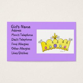 Princesa Coroa - cartão das meninas