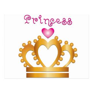 Princesa Coroa do coração Cartão Postal