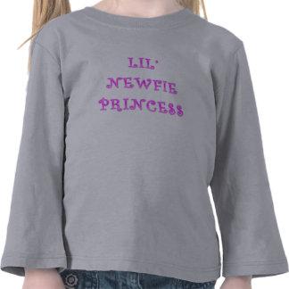 Princesa Criança Longo Luva de Lil Newfie T-shirts