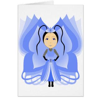 Princesa da borboleta da calcedónia cartão