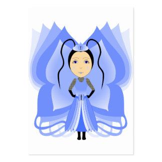 Princesa da borboleta da calcedónia modelo cartões de visita