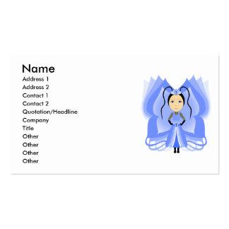 Princesa da borboleta da calcedónia cartões de visitas