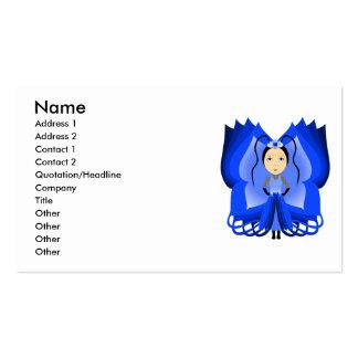 Princesa da borboleta da safira cartões de visita