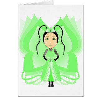 Princesa da borboleta de Prehnite Cartoes
