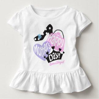 Princesa da camisa do feliz dia das mães da menina