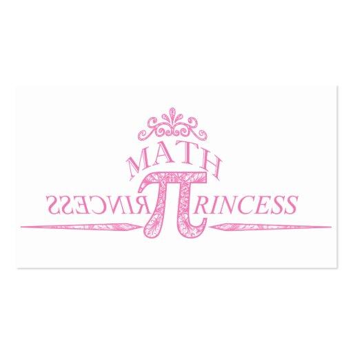Princesa da matemática modelos cartão de visita