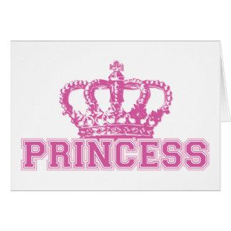 Princesa de coroa cartão comemorativo
