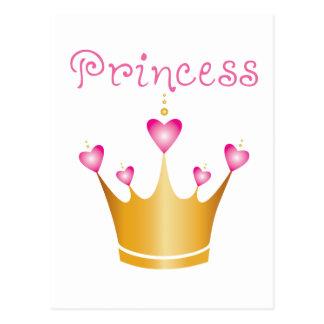 Princesa de coroa do coração cartão postal