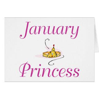 Princesa de janeiro cartão comemorativo