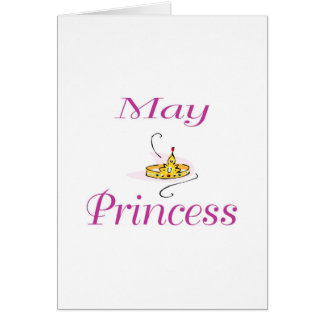 Princesa de maio cartão comemorativo