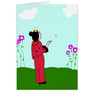 Princesa Deixar Ir Cartão do joaninha