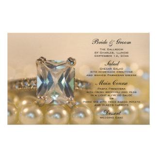 Princesa Diamante e pérolas que Wedding o menu Papelaria Personalizada