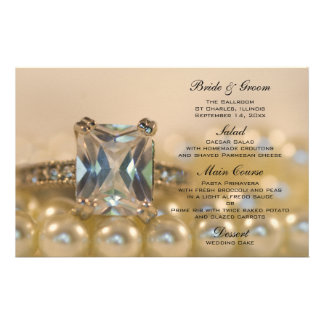 Princesa Diamante e pérolas que Wedding o menu Papelaria