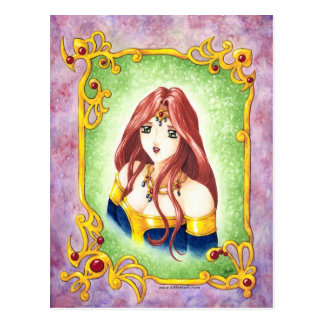 Princesa do Anime Cartão Postal