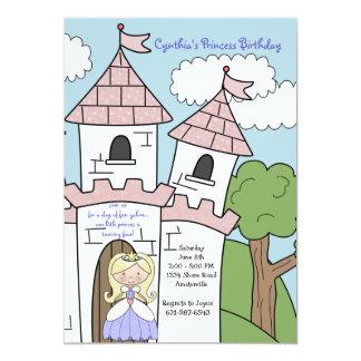 Princesa do convite do louro do castelo