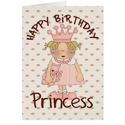 Princesa do feliz aniversario cartão