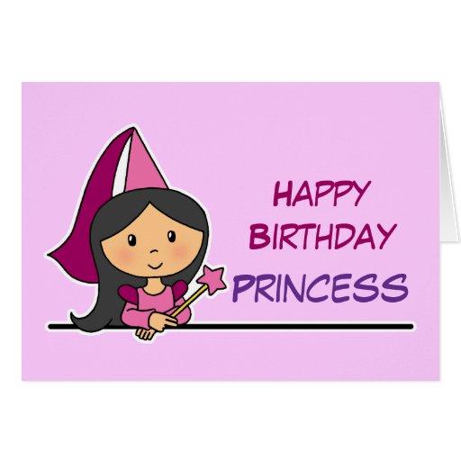 Princesa do feliz aniversario cartões