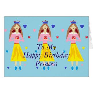 Princesa do feliz aniversario da princesa Meu da Cartão Comemorativo