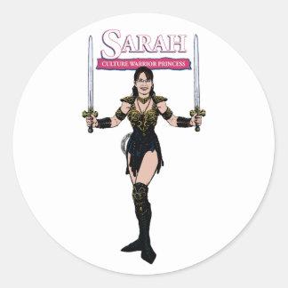 Princesa do guerreiro da cultura de Sarah Palin Adesivo