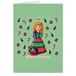 Princesa do Natal Cartão
