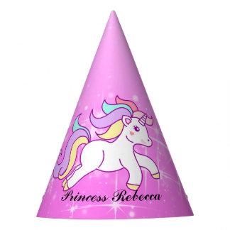 Princesa do unicórnio chapéu de festa