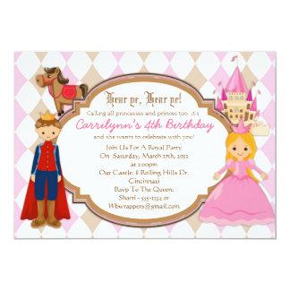 Princesa e príncipe - convites de festas de