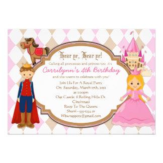 Princesa e príncipe - convites de festas de aniver