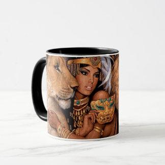 Princesa egípcia Caneca da deusa do leão