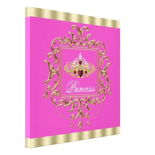 Princesa elegante Canvas Imprimir do rosa quente Impressão De Canvas Esticadas