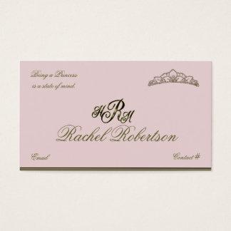 Princesa elegante cartão telefónico