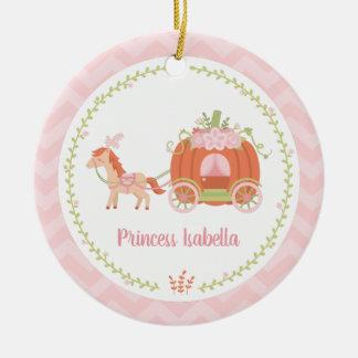 Princesa elegante Menina Ornamento da carruagem da